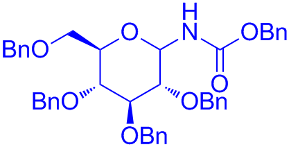 N-benzyloxycarbonyl 2,3,4,6-tetra-O-benzyl-α,β-D-glucopyranosylamine